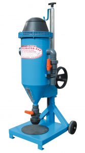 Máquina para la recarga de extintores de polvo móvil, modelo PFF-FLIPP-AIR-MATIC · No. 101 000