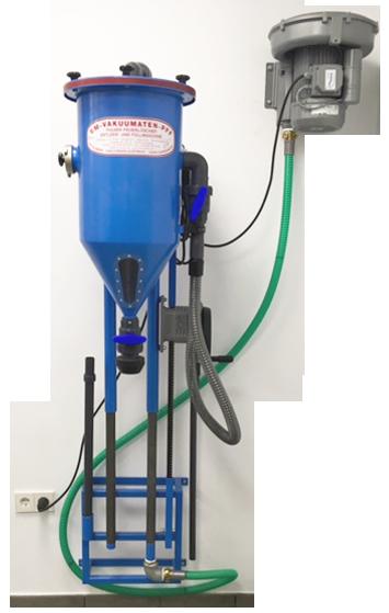 Máquina para el trasvase de polvo fija