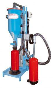 Máquina para la recarga de extintores de polvo PFF-FLIPP-EKW