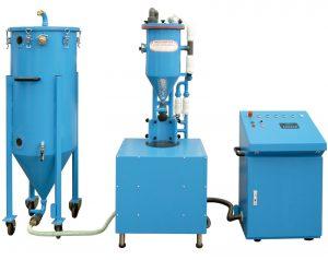 Tolva de polvo con báscula, semiautomática PFF-SUMATIC-SV-100-W · No. 151 000