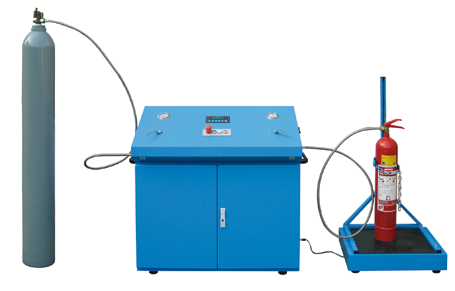 Máquina de llenado de CO2, FM200, NOVEC, FE13, modelo KR04 · No. 269 000