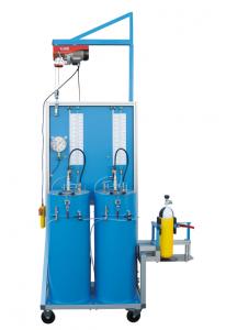 Máquina para la prueba volumétrica con dos depósitos