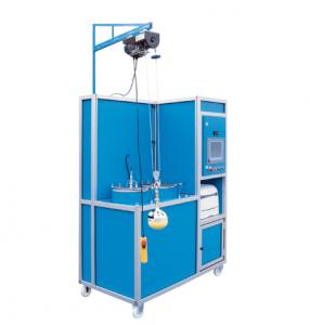 Máquina para la prueba volumétrica automática con visualización