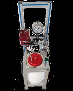 Máquina para la prueba hidráulica, móvil