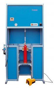 Máquina atornilladora-desatornilladora para extintores