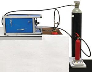 Máquina combinada para la carga de CO2 y prueba hidráulica